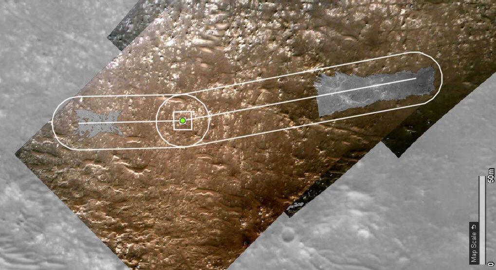 Droga jaką pokonał Ingenuity podczas lotów