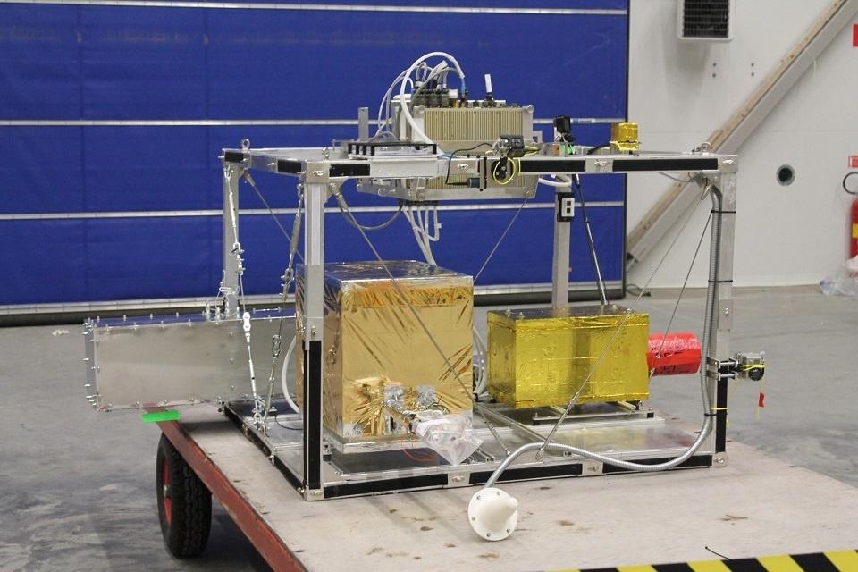Zdjęcie projektu eksperymentu stratosferycznego do programu lotów balonowych BEXUS Źródło: Politechnika Warszawska