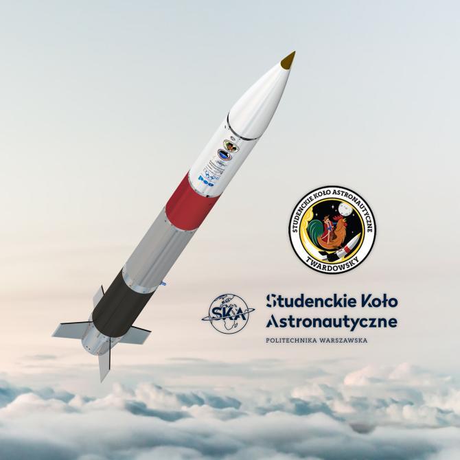 Wizualizacja rakiety Twardowsky Źródło: Politechnika Warszawska
