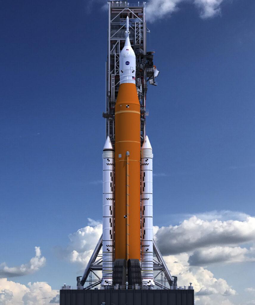 Wizualizacja SLS, Credit. NASA